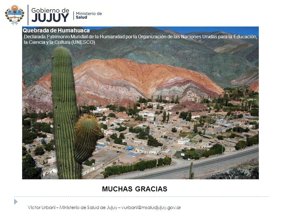 Quebrada de Humahuaca Declarada Patrimonio Mundial de la Humanidad por la Organización de las Naciones Unidas para la Educación, la Ciencia y la Cultu