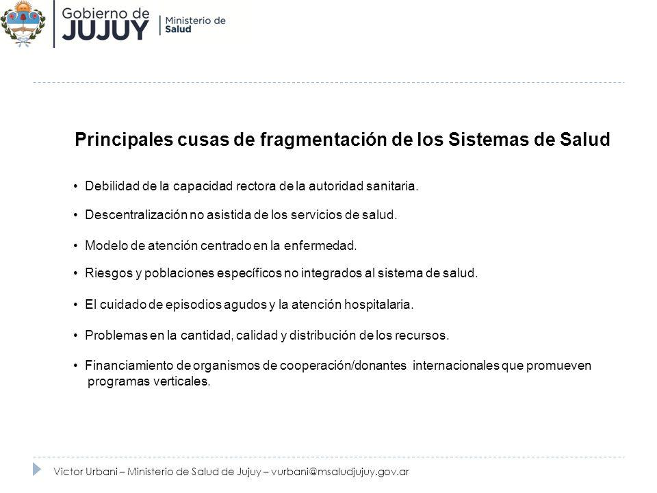 Programa de Fortalecimiento de la Estrategia de Atención Primara Victor Urbani – Ministerio de Salud de Jujuy – vurbani@msaludjujuy.gov.ar