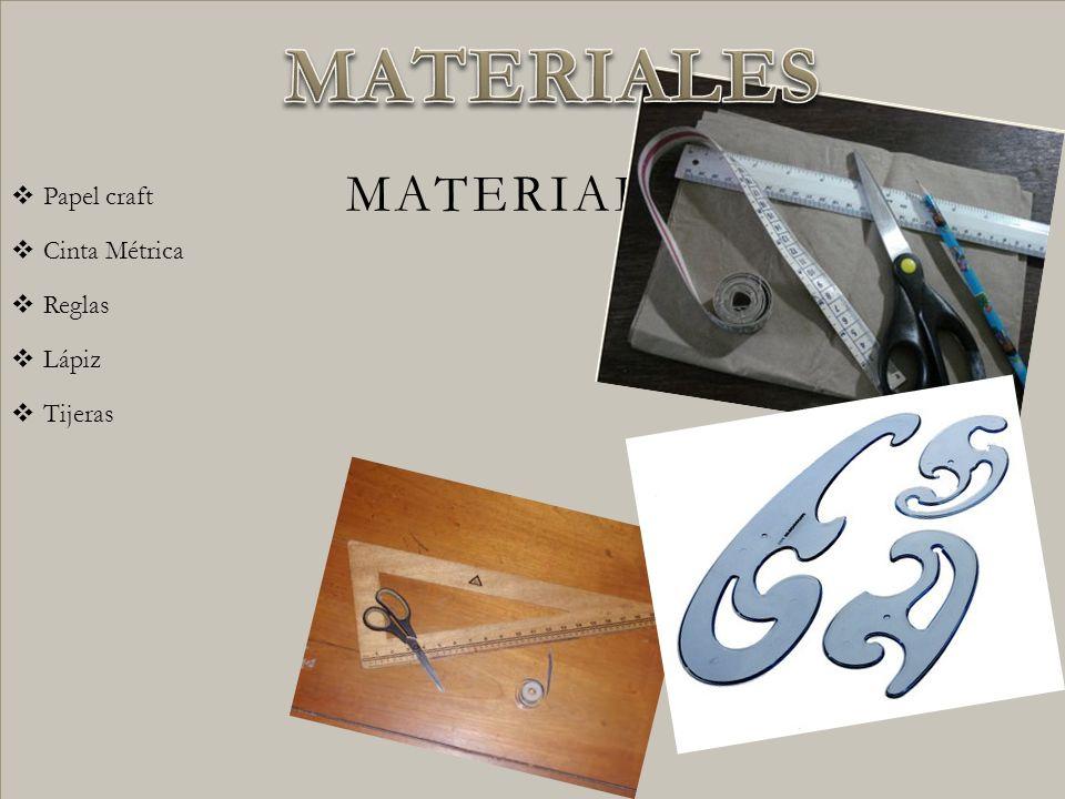 Papel craft Cinta Métrica Reglas Lápiz Tijeras MATERIALES