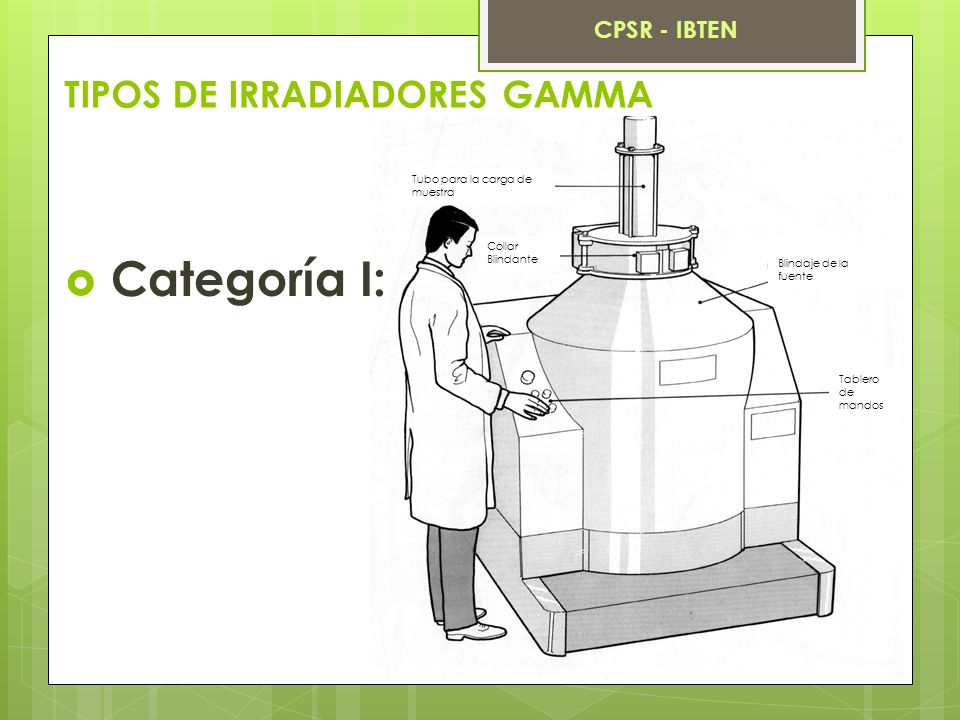 TIPOS DE IRRADIADORES GAMMA Categoría II: CPSR - IBTEN