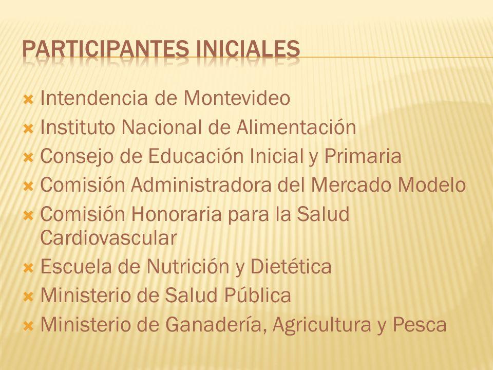 Instituto Nacional de Alimentación Consejo de Educación Inicial y Primaria Comisión Administradora del Mercado Modelo Comisión Honoraria para la Salud