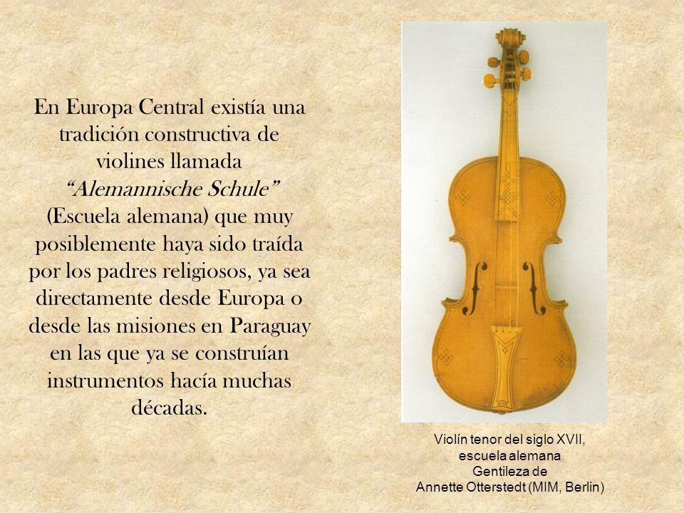 En Europa Central existía una tradición constructiva de violines llamada Alemannische Schule (Escuela alemana) que muy posiblemente haya sido traída p