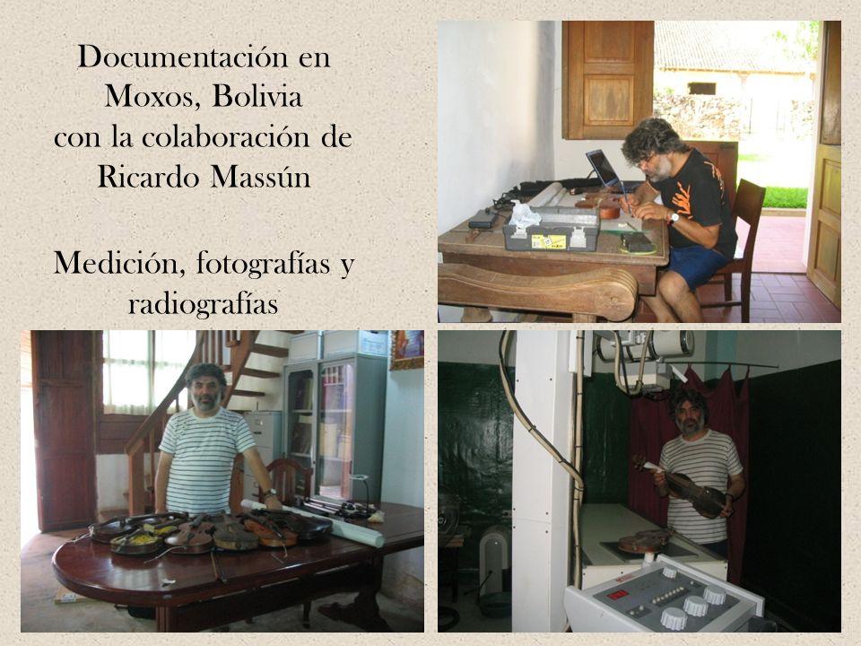 Documentación en Moxos, Bolivia con la colaboración de Ricardo Massún Medición, fotografías y radiografías