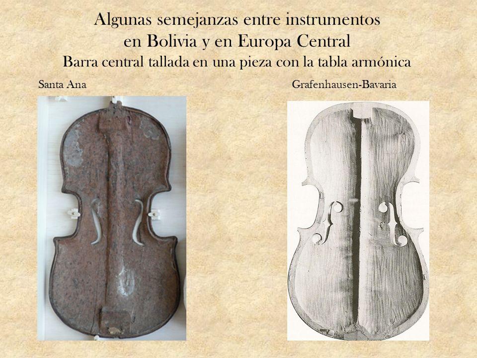 Algunas semejanzas entre instrumentos en Bolivia y en Europa Central Barra central tallada en una pieza con la tabla armónica Santa AnaGrafenhausen-Ba