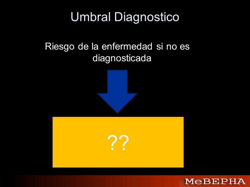 Umbral Diagnostico Riesgo de la enfermedad si no es diagnosticada ??