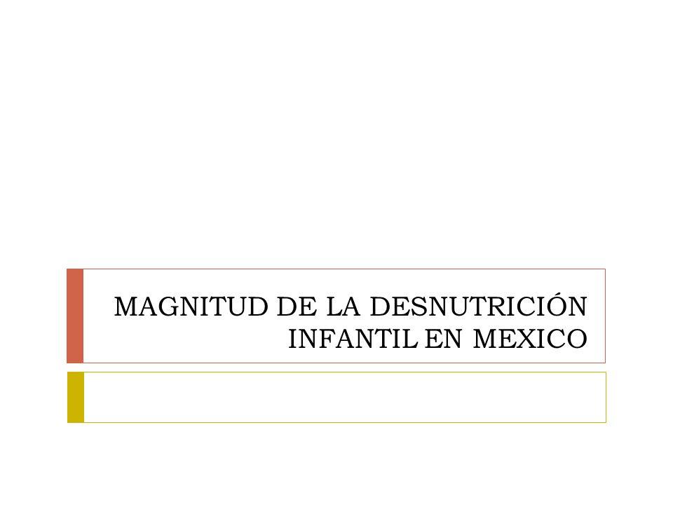 MAGNITUD DE LA DESNUTRICIÓN INFANTIL EN MEXICO