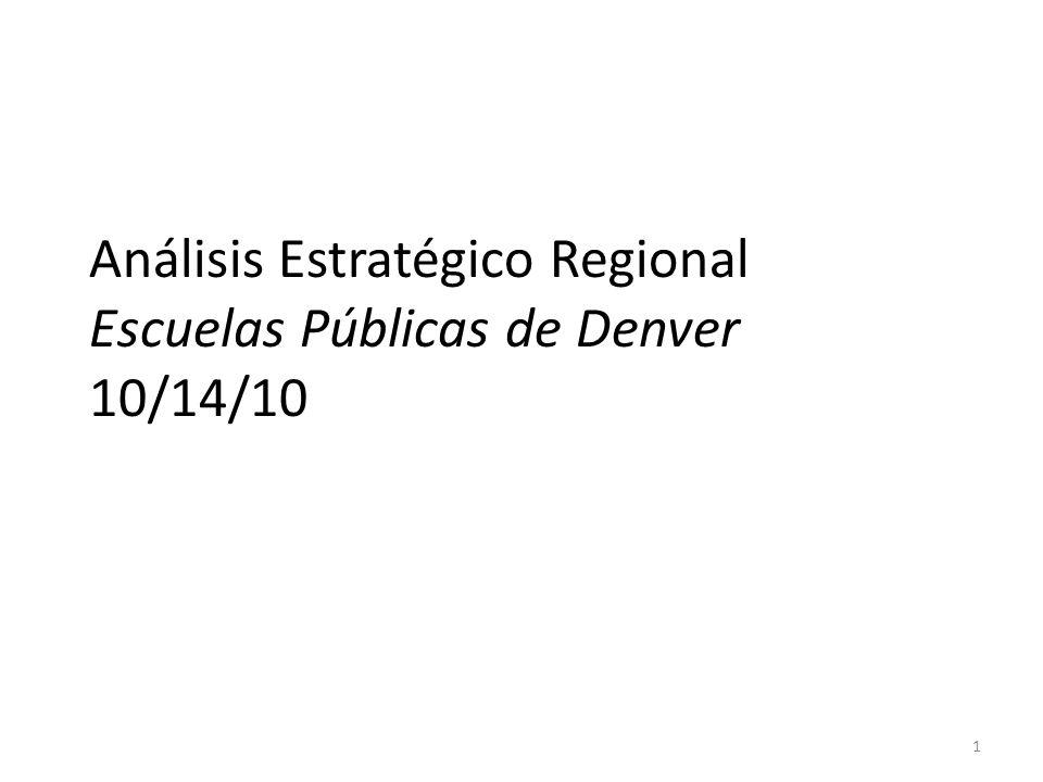 Análisis Estratégico Regional Escuelas Públicas de Denver 10/14/10 1