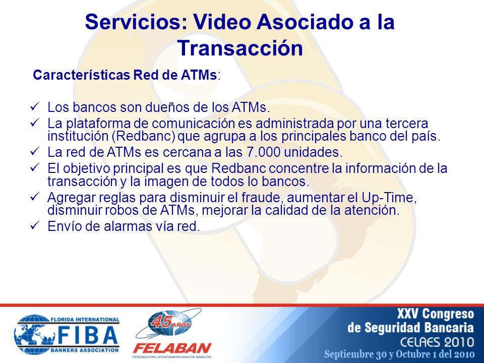 Características Red de ATMs: Los bancos son dueños de los ATMs.