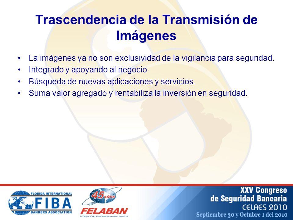 Trascendencia de la Transmisión de Imágenes La imágenes ya no son exclusividad de la vigilancia para seguridad.