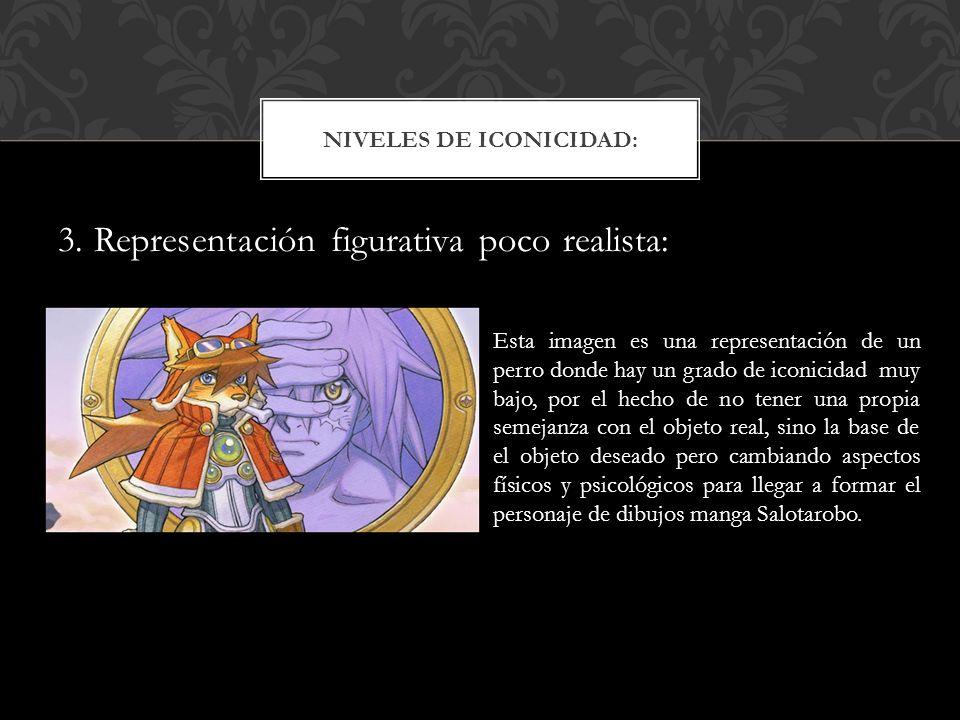 3. Representación figurativa poco realista: NIVELES DE ICONICIDAD: Esta imagen es una representación de un perro donde hay un grado de iconicidad muy