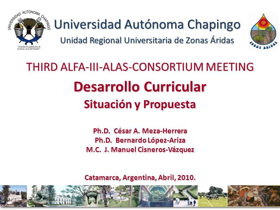 THIRD ALFA-III-ALAS-CONSORTIUM MEETING Desarrollo Curricular Situación y Propuesta Ph.D.