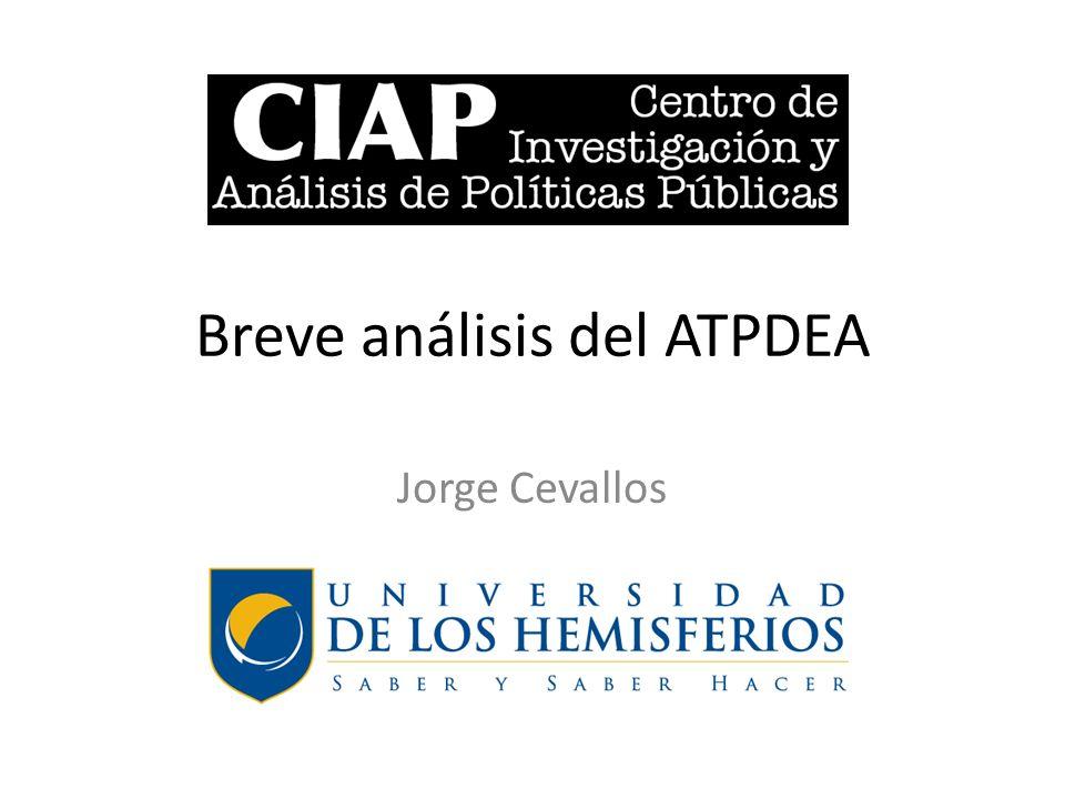 Breve análisis del ATPDEA Jorge Cevallos