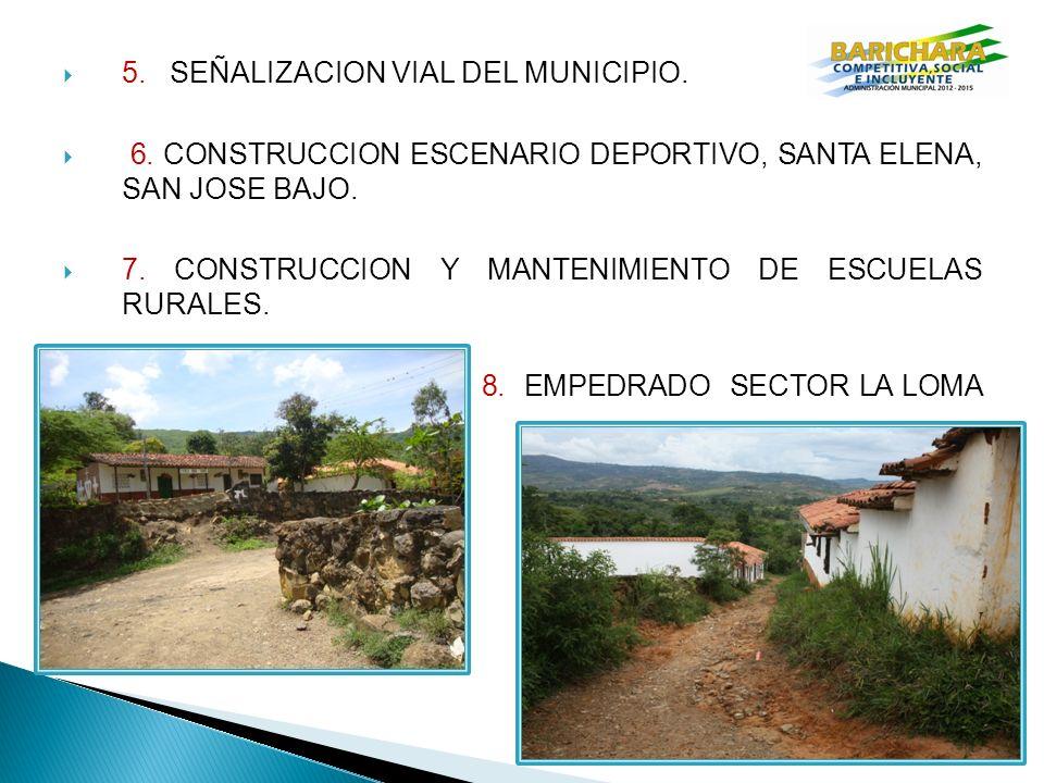 5.SEÑALIZACION VIAL DEL MUNICIPIO. 6.