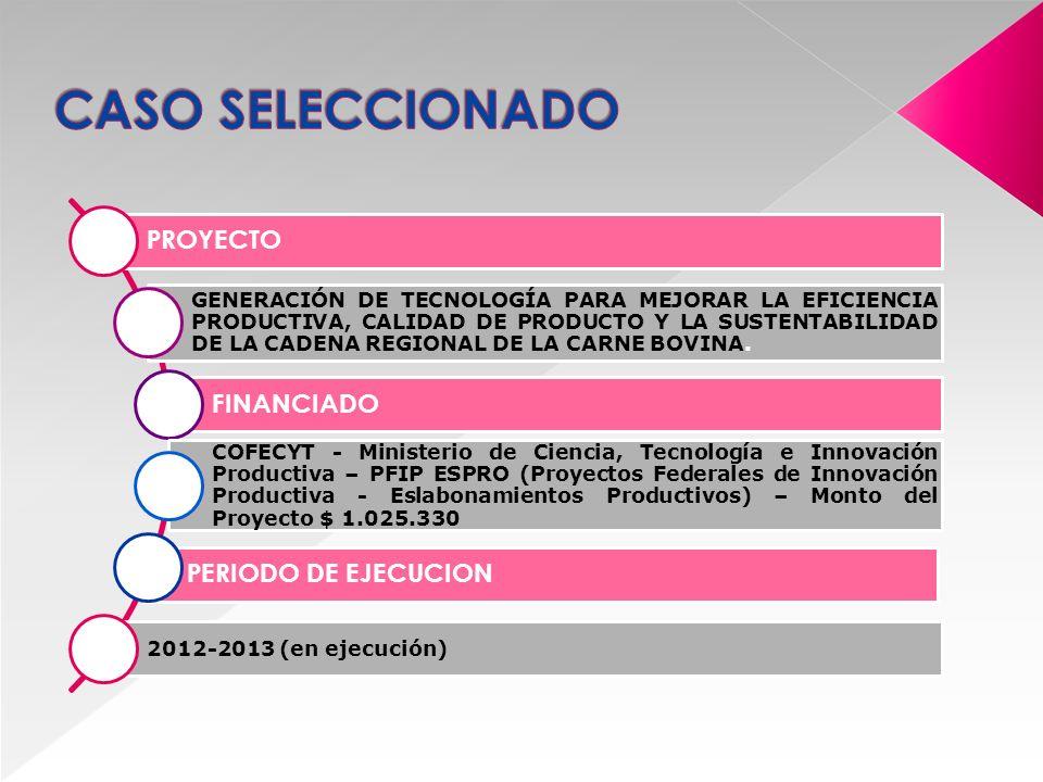 EL PROYECTO SURGE A PARTIR DE LA NECESIDAD DE MEJORAR LA EFICIENCIA DE PRODUCCIÓN DEL ESLABÓN PRIMARIO DE LA CADENA DE VALOR DEL SECTOR BOVINO Y OBTENER PRODUCTOS DE CALIDAD DIFERENCIADA BAJO CONDICIONES AMBIENTALMENTE SUSTENTABLES PARA NO PERDER COMPETITIVIDAD EN EL MERCADO INTERNACIONAL.