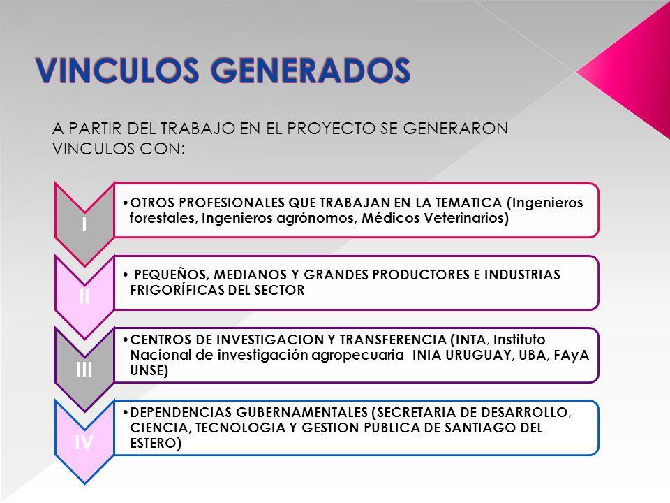 Actualmente se trabaja en: REDACCIÓN DE UN NUEVO PROYECTO CON EL OBJETIVO DE INNOVAR EN ASPECTOS ASOCIADOS CON LOS SISTEMAS DE PRODUCCIÓN SILVOPASTORILES.
