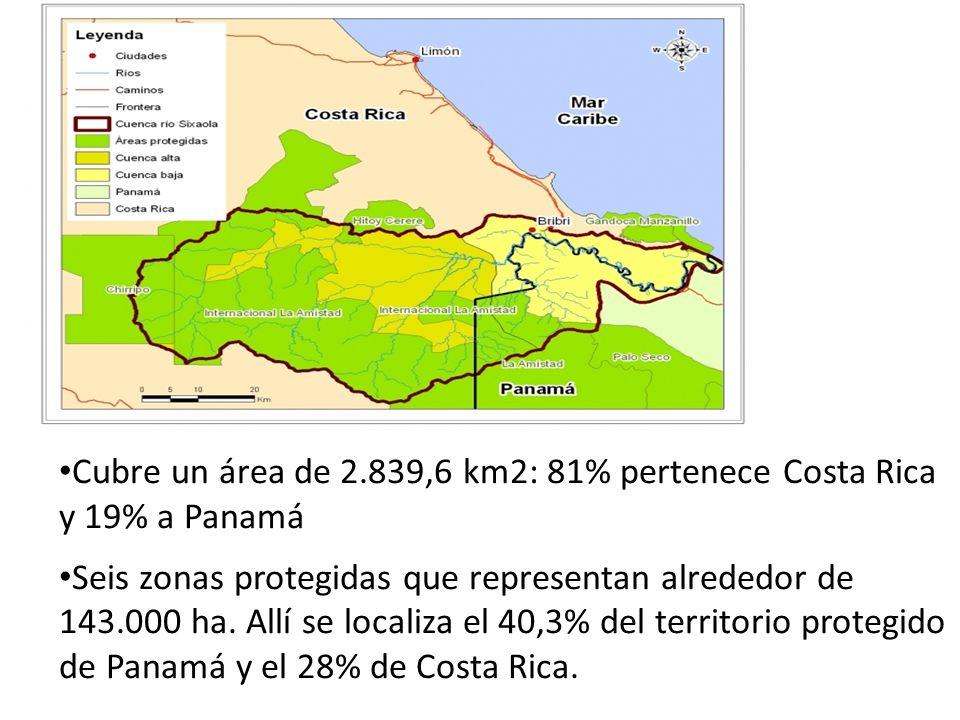 TalamancaChanguinolaTotal Extensión2810 Km23.994 Km26804 Km2 Población*25.857 Hab.71.922 Hab.97.779 Hab % Pob.