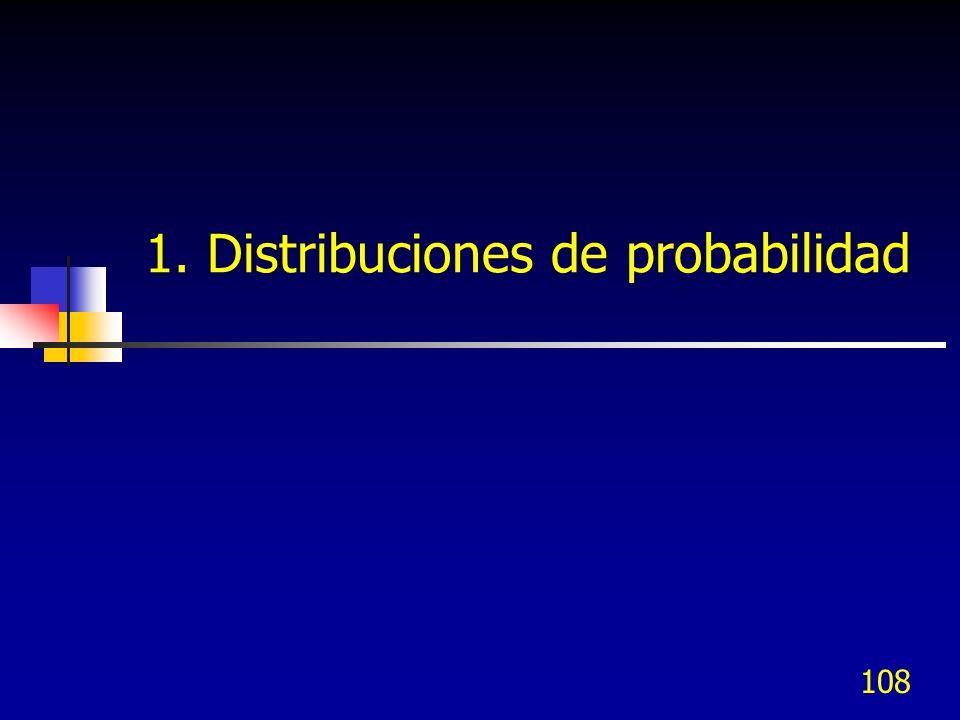 108 1. Distribuciones de probabilidad
