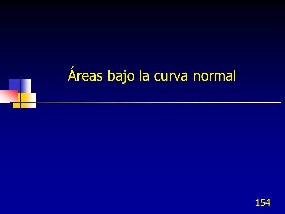 154 Áreas bajo la curva normal