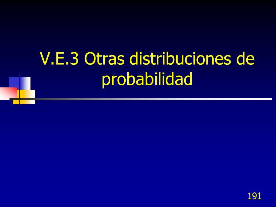 191 V.E.3 Otras distribuciones de probabilidad