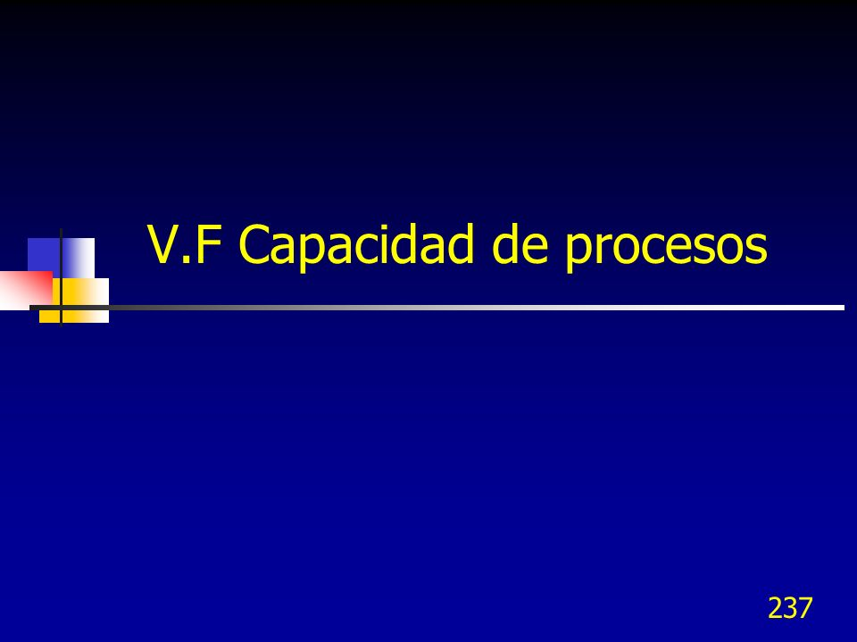 237 V.F Capacidad de procesos