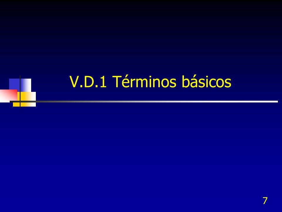 7 V.D.1 Términos básicos