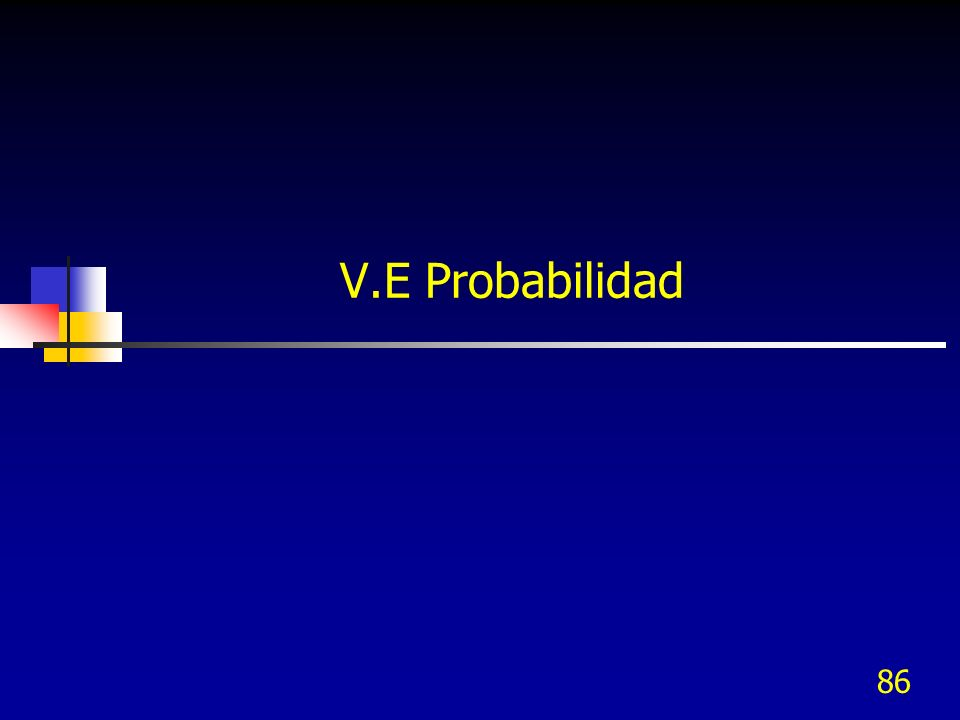 86 V.E Probabilidad