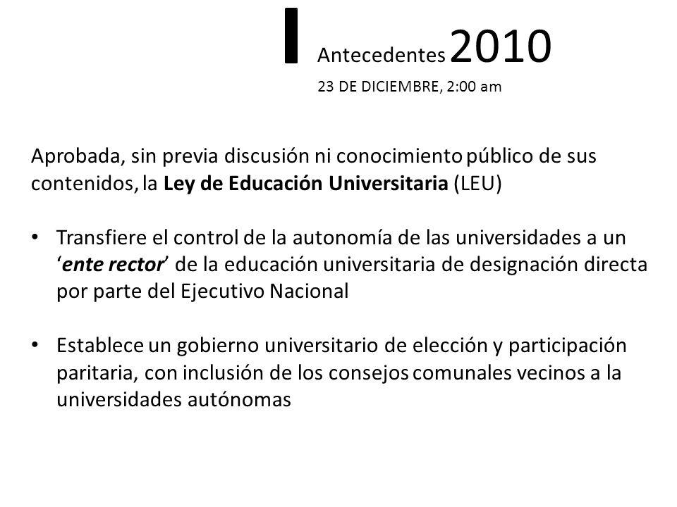 Aprobada, sin previa discusión ni conocimiento público de sus contenidos, la Ley de Educación Universitaria (LEU) Transfiere el control de la autonomí