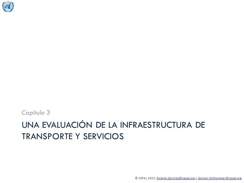 © CEPAL 2013, Ricardo.Sanchez@cepal.org – Gordon.Wilmsmeier@cepal.orgRicardo.Sanchez@cepal.org–Gordon.Wilmsmeier@cepal.org UNA EVALUACIÓN DE LA INFRAE
