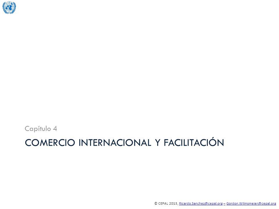 © CEPAL 2013, Ricardo.Sanchez@cepal.org – Gordon.Wilmsmeier@cepal.orgRicardo.Sanchez@cepal.org–Gordon.Wilmsmeier@cepal.org COMERCIO INTERNACIONAL Y FACILITACIÓN Capítulo 4