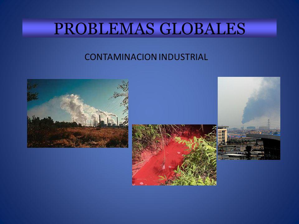 PROBLEMAS GLOBALES CONTAMINACION INDUSTRIAL