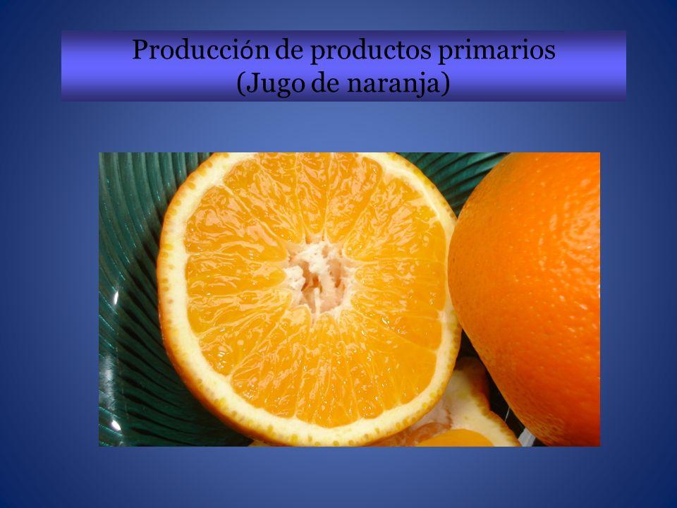 Producci ó n de productos primarios (Jugo de naranja)