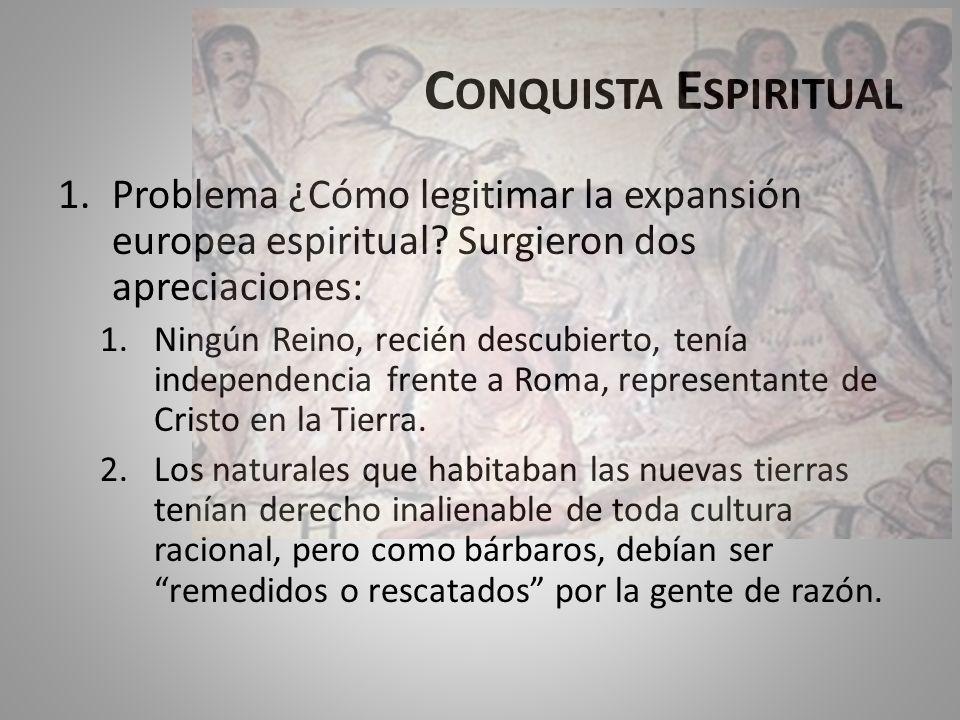 P RESENCIA DE REPRESENTANTES ESPIRITUALES.