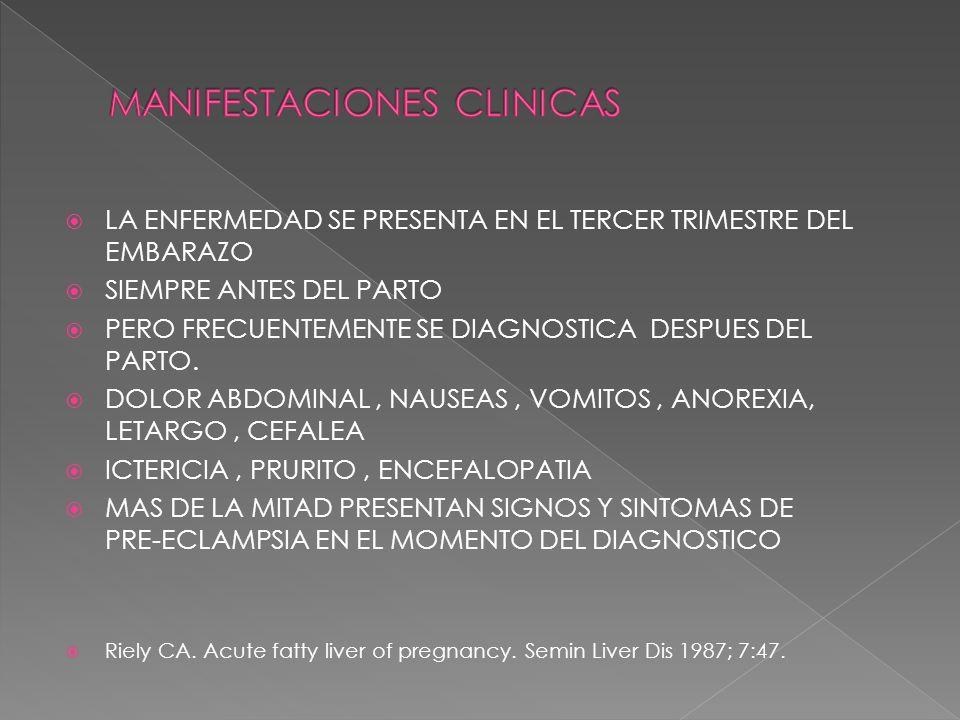 SON FRECUENTE LAS COMPLICACIONES EXTRA-HEPATICAS EN UN CONTEXTO DE UN ENFERMO CRITICO HEMORRAGIA DIGESTIVA INSUFICIENCIA RENAL PANCREATITIS AGUDA INFECCIONES COAGULOPATIA COMPLEJA HIPOGLUCEMIA HIPERTENSION/PREECLAMPSIA/HELLP Pereira SP, O Donohue J, Wendon J, Williams R.