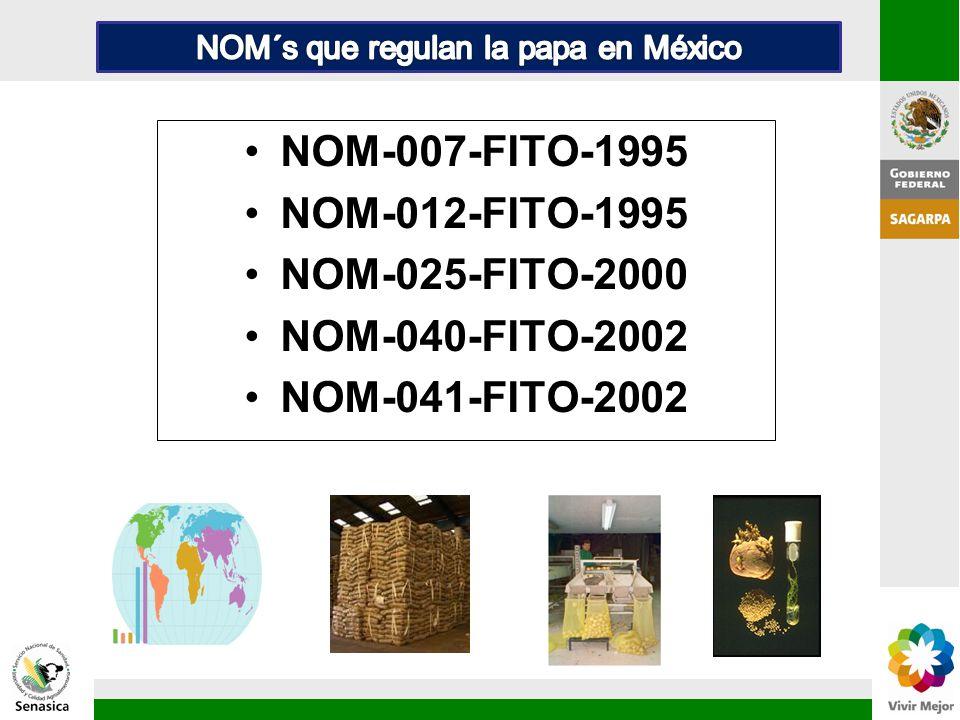NOM-007-FITO-1995 NOM-012-FITO-1995 NOM-025-FITO-2000 NOM-040-FITO-2002 NOM-041-FITO-2002