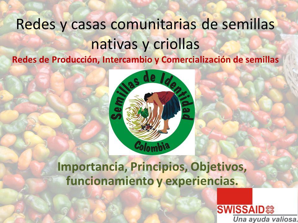 Redes y casas comunitarias de semillas nativas y criollas Redes de Producción, Intercambio y Comercialización de semillas Importancia, Principios, Objetivos, funcionamiento y experiencias.