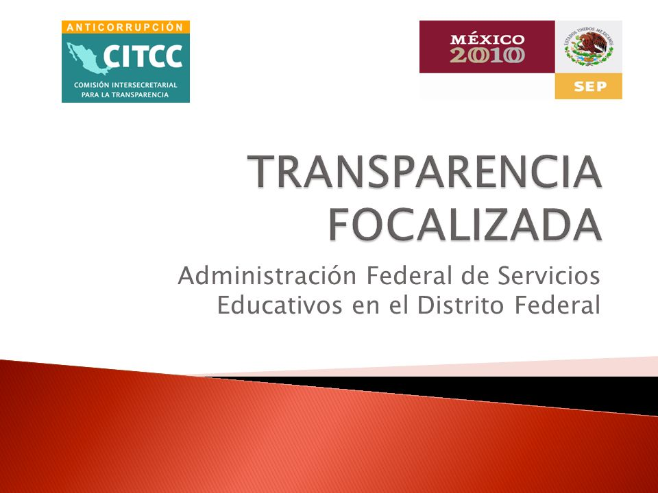 SFP a través del Secretariado Técnico de la CITCC y Órgano Interno de Control