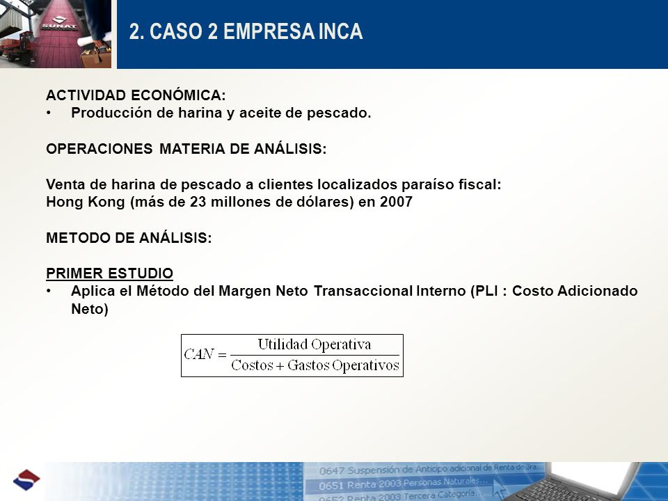 2.CASO 2 EMPRESA INCA CAN INCACAN COMPARABLES 9.15% 1er.
