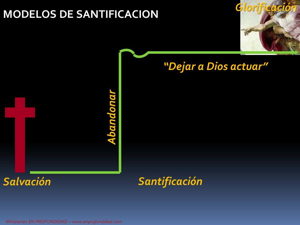 MODELOS DE SANTIFICACION Abandonar Salvación Dejar a Dios actuarGlorificación Santificación