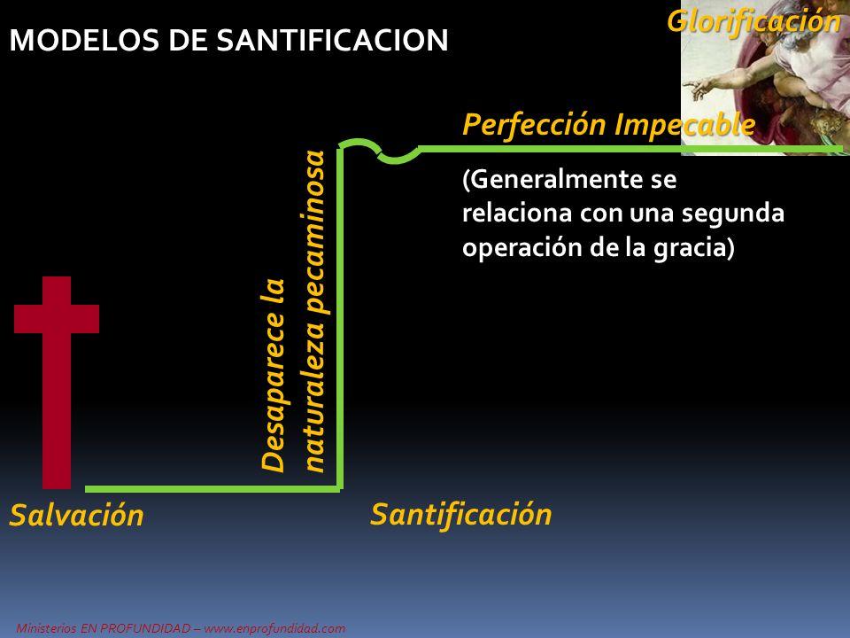 Ministerios EN PROFUNDIDAD – www.enprofundidad.com MODELOS DE SANTIFICACION Perfección Impecable Desaparece la naturaleza pecaminosa Salvación (Genera