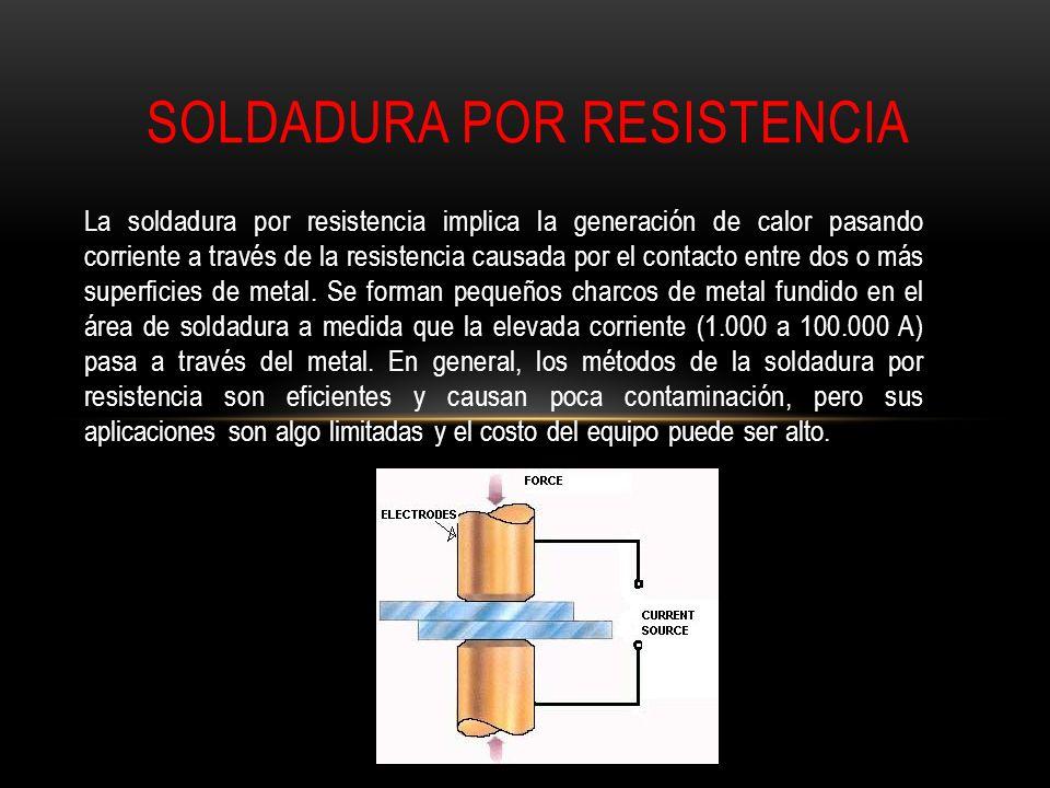 La soldadura por resistencia implica la generación de calor pasando corriente a través de la resistencia causada por el contacto entre dos o más super