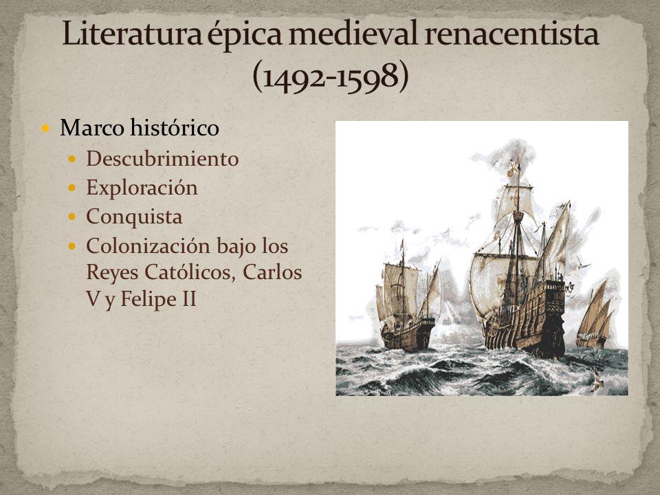 Elementos Renacentistas Arcaizantes Medievales Erasmismos Italizantes o de molde europeo Temas crónicas y misiones Importancia de ideas Poesía tradici