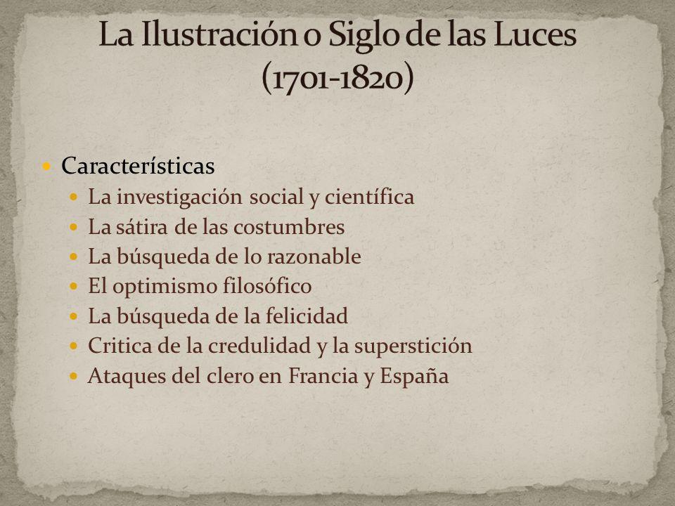Auge del racionalismo en la filosofía desarrollado por el inglés Locke y sus sucesores franceses Montesquieu, Voltaire, Diderot, Rousseau, y otros escritores de la Encyclopedie (1751-80).