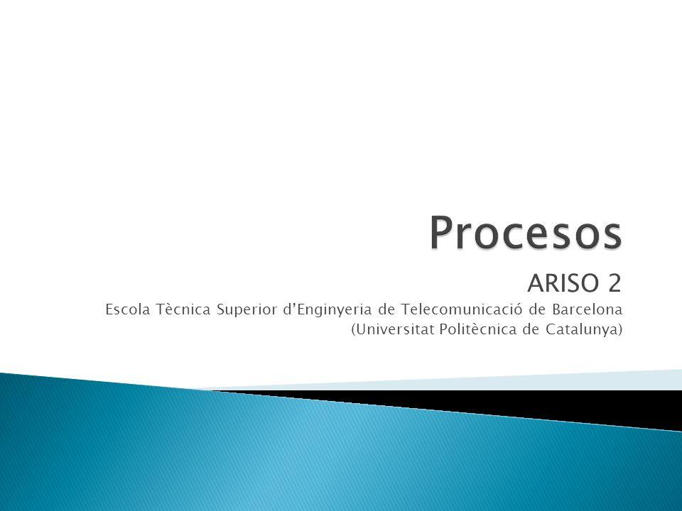 ARISO 2 Escola Tècnica Superior dEnginyeria de Telecomunicació de Barcelona (Universitat Politècnica de Catalunya)