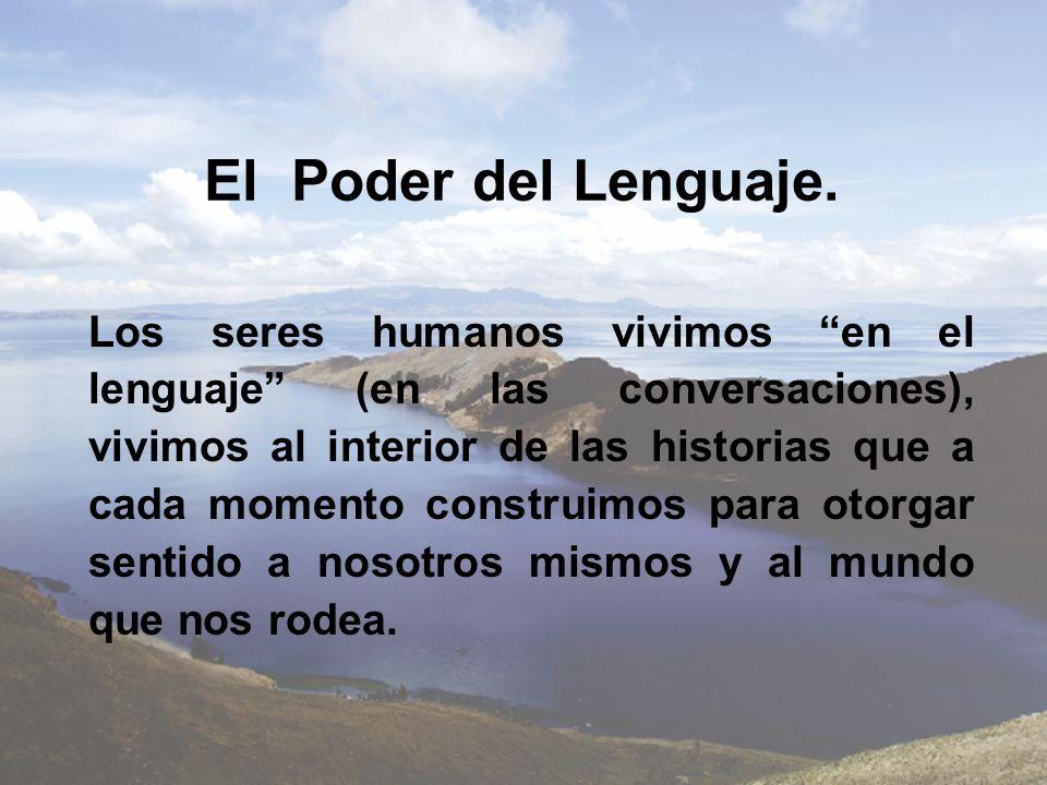 El Poder del Lenguaje. Los seres humanos vivimos en el lenguaje (en las conversaciones), vivimos al interior de las historias que a cada momento const
