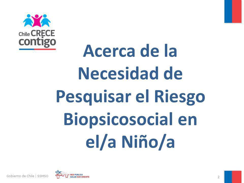 Acerca de la Necesidad de Pesquisar el Riesgo Biopsicosocial en el/a Niño/a 2 Gobierno de Chile | SSMSO