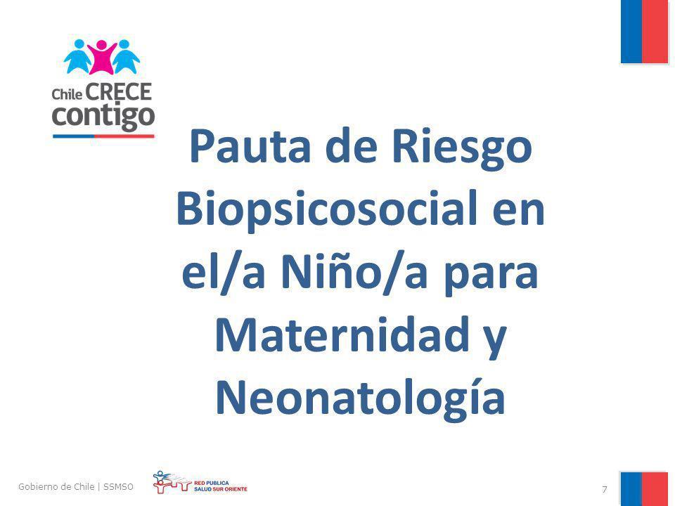 Pauta de Riesgo Biopsicosocial en el/a Niño/a para Maternidad y Neonatología 7 Gobierno de Chile | SSMSO