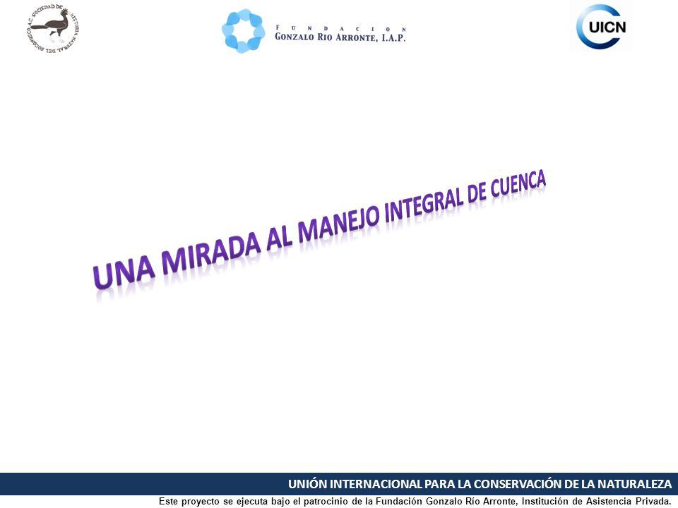 UNIÓN INTERNACIONAL PARA LA CONSERVACIÓN DE LA NATURALEZA Este proyecto se ejecuta bajo el patrocinio de la Fundación Gonzalo Río Arronte, Institución
