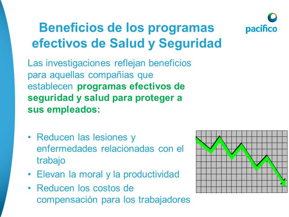 Beneficios de los programas efectivos de Salud y Seguridad Las investigaciones reflejan beneficios para aquellas compañias que establecen programas ef