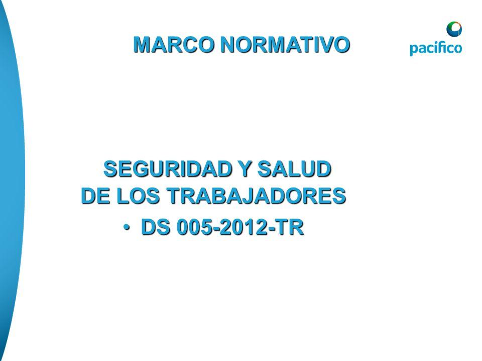 MARCO NORMATIVO SEGURIDAD Y SALUD DE LOS TRABAJADORES SEGURIDAD Y SALUD DE LOS TRABAJADORES DS 005-2012-TRDS 005-2012-TR