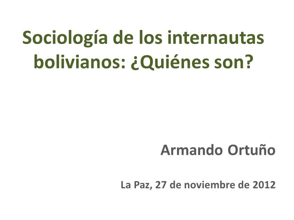 Sociología de los internautas bolivianos: ¿Quiénes son.